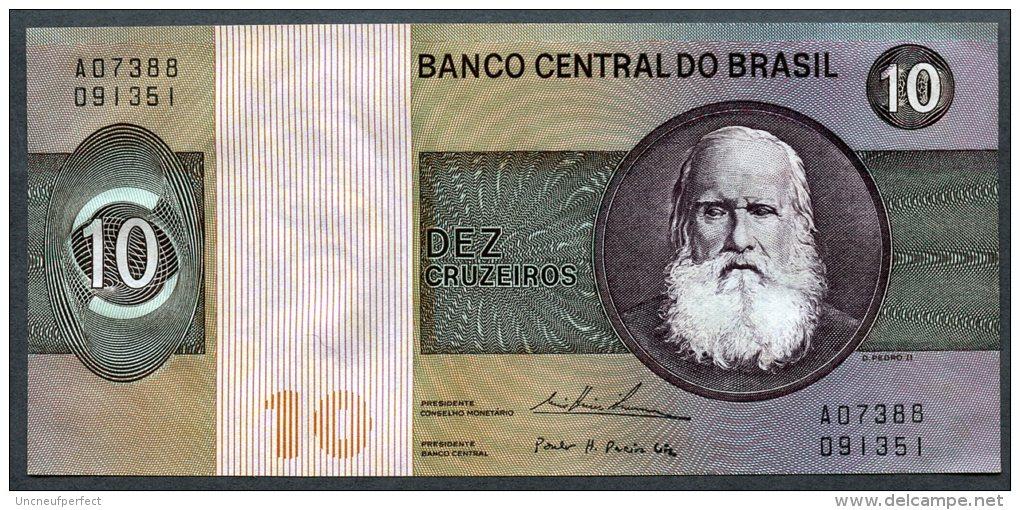 Brésil P 193b  10 Cruzeiros 1974 - C138 N° A 07388091351 - Brésil