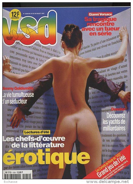 VSD 1039 Versace Sarkozy Chefs D'oeuvre De La Littérature érotique - People