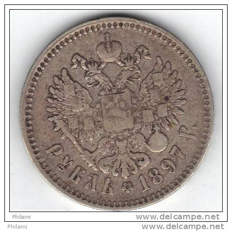 RUSSIE, Y 59.3 1R 1897, Silver . (AUP51) - Rusia