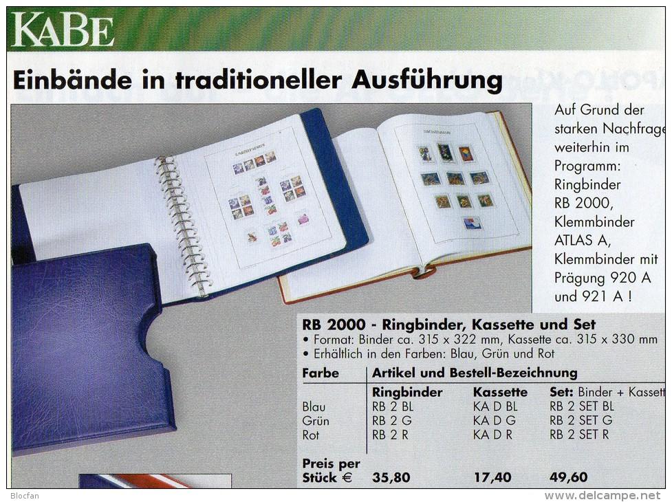 Teil 9 Vordruck-Album Deutschland 2000-2004 Wie Neu 196€ KABE BI-collect Ohne Falz Einzeln Im Komplett-Album BRD 1949/04 - Vordruckblätter