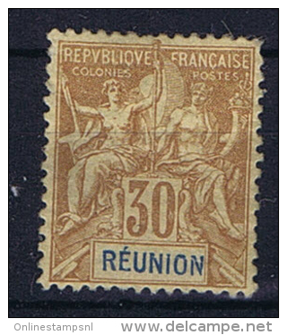 Reunion Yv 40 MH/* - Unused Stamps
