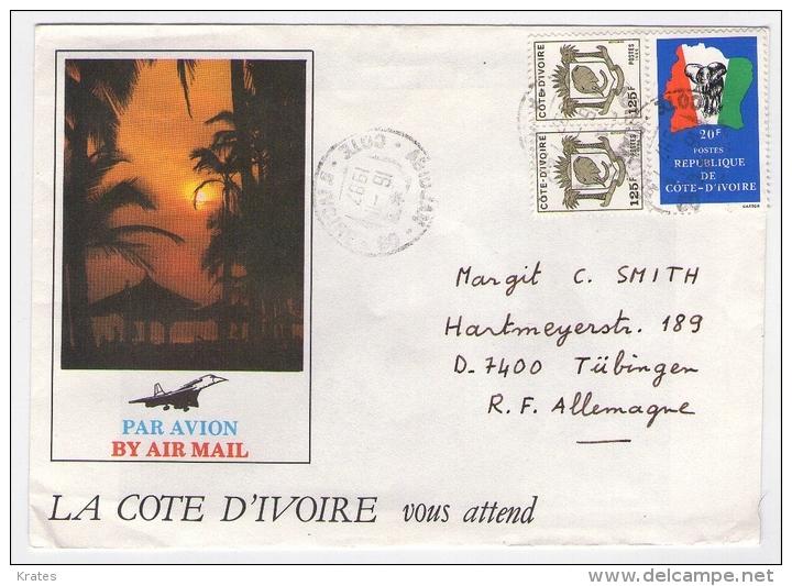 Old Letter - Ivory Coast - Côte D'Ivoire (1960-...)