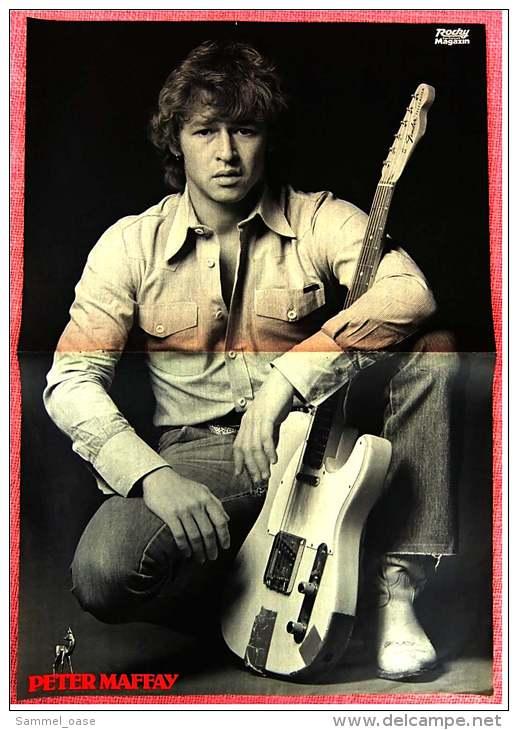 Kleines Musik Poster  -  Amii Stewart  -  Rückseite : Peter Maffay  -  Von Bravo Ca. 1982 - Plakate & Poster