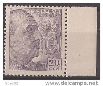 ES1047-LA877.España.S Pain Espagne CID Y GENERAL FRANCO 1949/53.(Ed 1047**) Sin Charnela LUJO. - 1931-50 Nuevos & Fijasellos