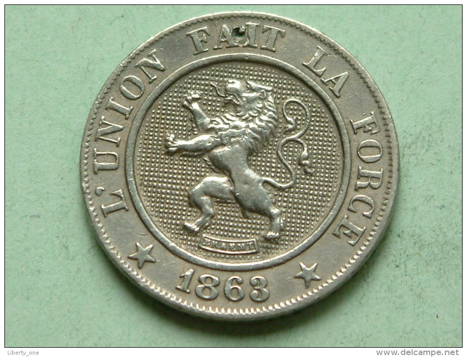 1863 FR - 10 Cent. / Morin 135 ( Uncleaned - For Grade, Please See Photo ) ! - 1831-1865: Léopold I