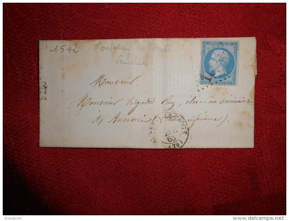 Lot Du01.03.13_18 _n°22 De Fontenay-le-comte  GC1542;a Etudier - 1849-1876: Période Classique
