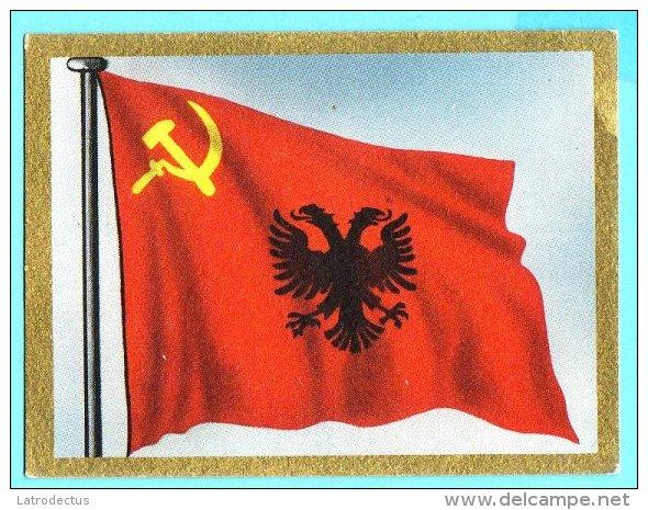 Die Welt In Bunten Flaggenbild - 1950 - Teil I - B.47 - Albanien, Shqipëria, Albania - Chromos