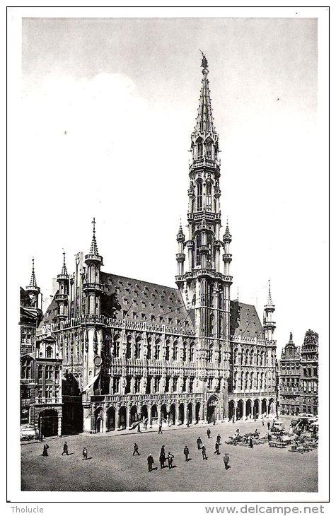 Publicité-Chocolat Martougin -Bruxelles- Hôtel De Ville Et Grand Place Animée - Werbepostkarten