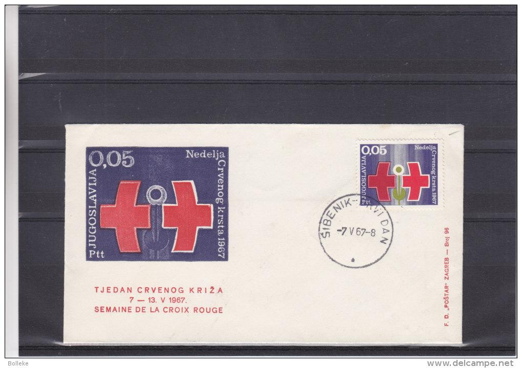 Croix Rouge - Yougoslavie - Lettre De 1967 - Oblitération Sibenik - Lettres & Documents
