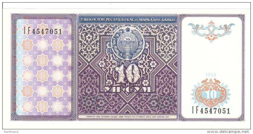 Uzbekistan - 10 Sum - 1994 - P 76 - Unc - Usbekistan
