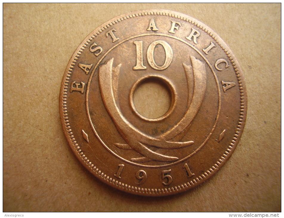 BRITISH EAST AFRICA USED TEN CENT COIN BRONZE Of 1951 - George VI. - Colonia Britannica