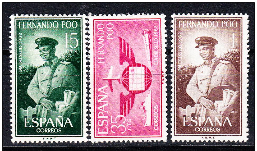 FERNANDO POO. 1962.EDIFIL.Nº 210/212.DIA DEL SELLO. NUEVO SIN   CHARNELA  SES 379 - Fernando Po