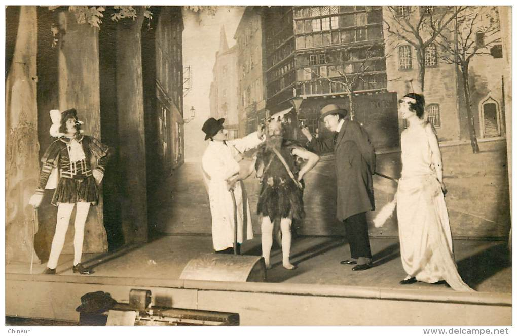 CARTE PHOTO PIECE DE THEATRE - Théâtre