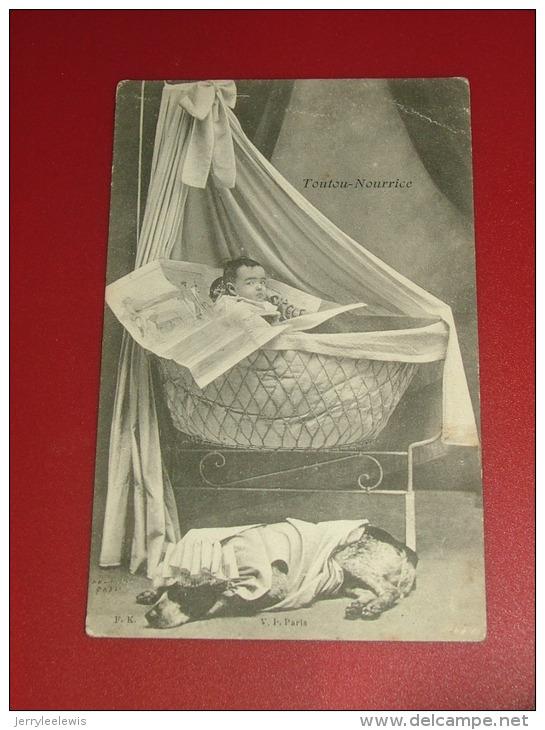 "FANTAISIES ENFANTS  -   Chien   -  "" Toutou Nourrice ""  -   1907 - Hunde"