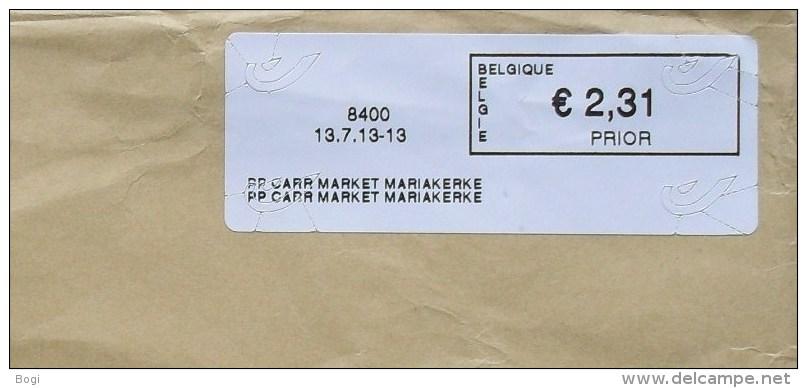 België 2013 PP Carr Market Mariakerke 8400 - Logo Bpost (fragment 114 X 228 Mm) - Postage Labels
