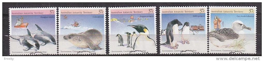 PGL BP202 - AUSTRALIAN ANTARTIC TERRITORY Yv N°79/83 - Used Stamps