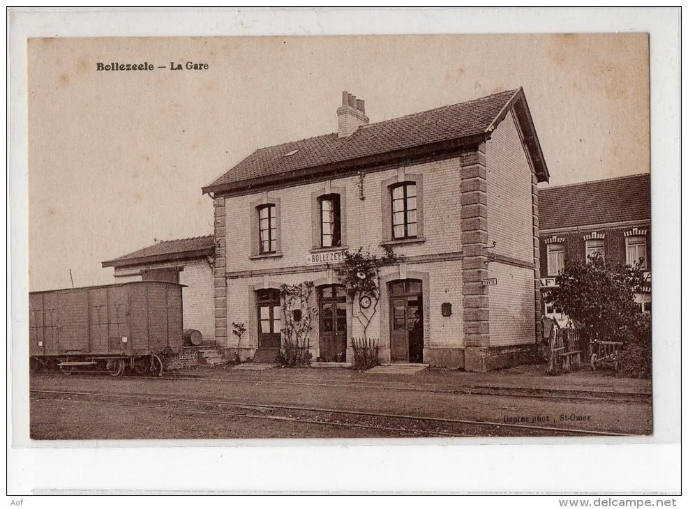 59-2185 BOLLEZEELE Gare Correspondance Allemande - Beau Plan - Francia