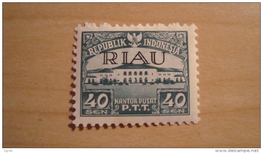 Indonesia - Riau Archipelago  1954  Scott #9  MH - Indonesia