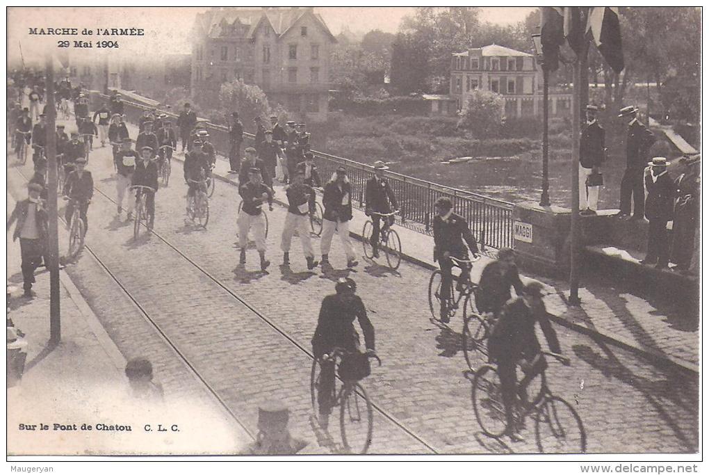 CHATOU - Marche De L'Armée -  26 Mai 1904 - Sur Le Pont De Chatou - Chatou