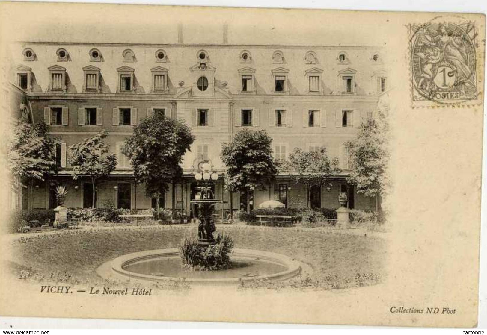03 VICHY - Le Nouvel Hôtel - Dos Non Divisé - Vichy