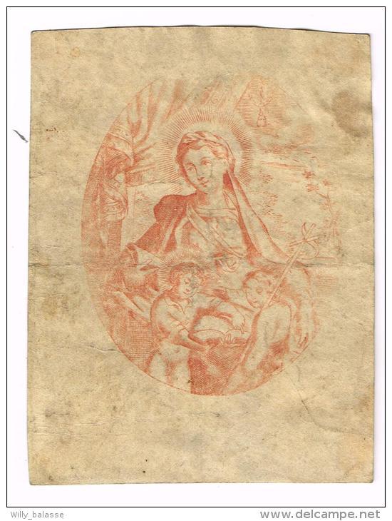 IMAGE RELIGIEUSE Sur Vélin, 11 X 8,4 Cm - Images Religieuses