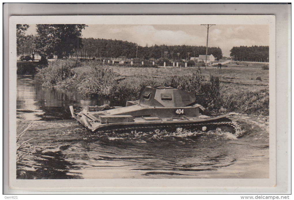 MILITÄR - Panzer / Tank / Chars - Deutsche Wehrmacht, Schwimmpanzer - Ausrüstung