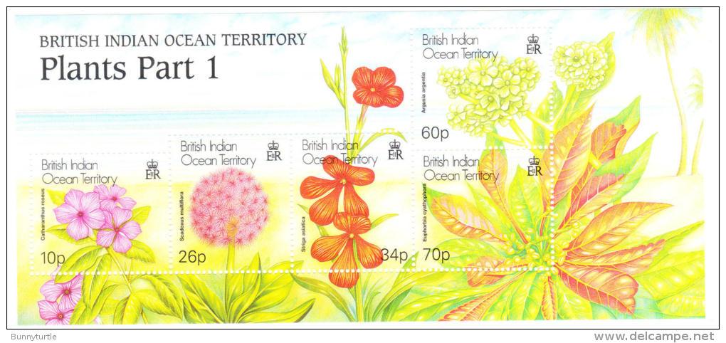 British Indian Ocean Territority BIOT 2001 Plants S/S MNH - Britisches Territorium Im Indischen Ozean