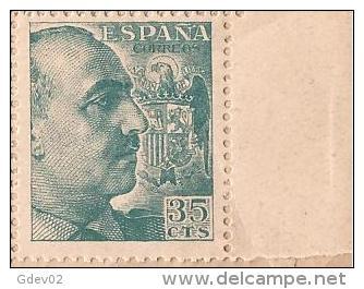 ES1050-B043TV.España Spain.Espagne .General FRANCO Y CID.1048/53. (Ed 1050**) Sin Clarnela LUJO - Variedades & Curiosidades