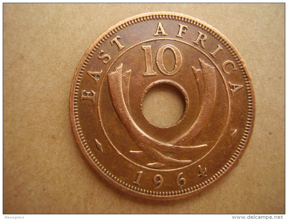 BRITISH EAST AFRICA USED TEN CENT COIN BRONZE Of 1964 - George VI. - British Colony