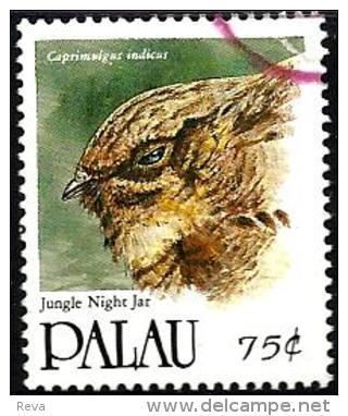 PALAU $0.75 STAMP BIRD BIRDS JUNGLE NIGHT JAR  ISSUED 1991 VFU SG424 READ DESCRIPTION !! - Palau