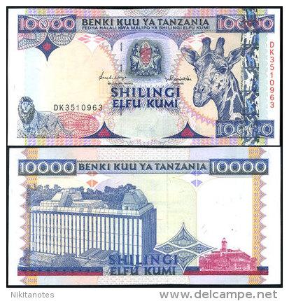 TANZANIA 10,000 10000 SHILLINGS ND 1997 P 33 UNC - Tanzanie