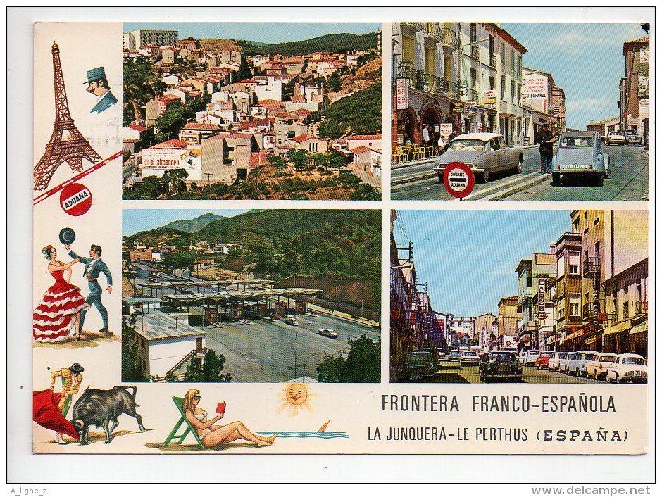 REF 123 : CPSM 66 LE PERTHUS La Junquera Frontière Espagnol Citroen 2CV Eet DS - Francia
