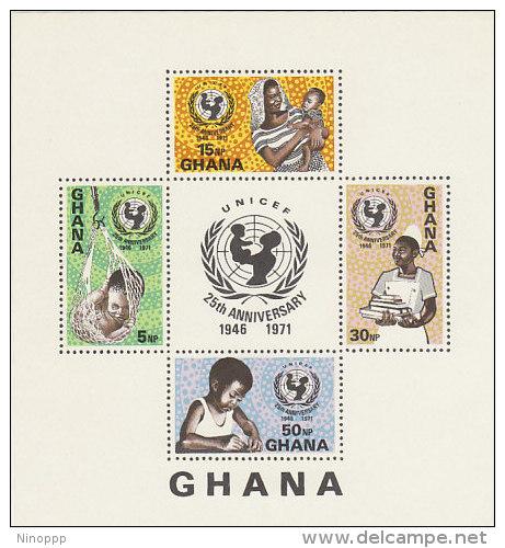 Ghana-1971 25th Anniversary UNICEF Souvenir Sheet MNH - Ghana (1957-...)