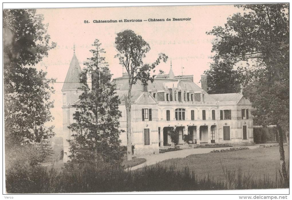 Carte Postale Ancienne De BEAUVOIR - France
