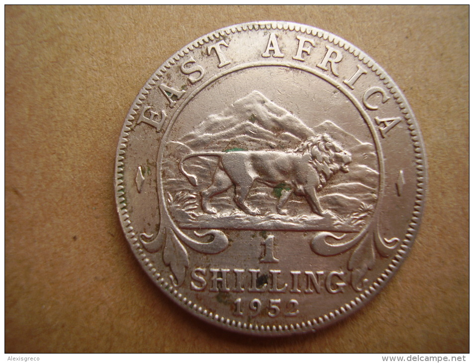 BRITISH EAST AFRICA USED ONE SHILLING 1952  Copper-nickel COIN. - British Colony