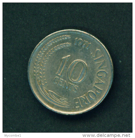 SINGAPORE - 1971 10c Circulated - Singapore