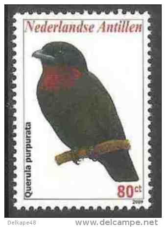 Nederlandse Antillen 2009 Mi 1741 ** Querula Purpurata : Purple-throated Fruitcrow / Purpurbrustkotinga / - Zangvogels