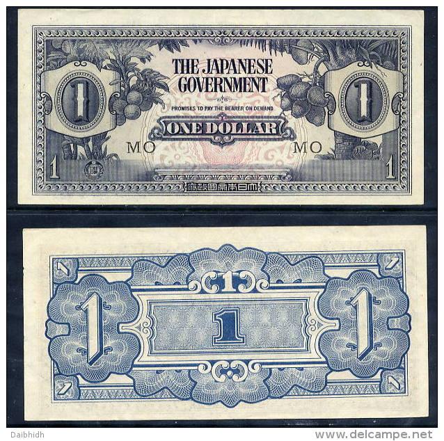 JAPANESE OCCUPATION OF MALAYA 1942 1 Dollar UNC.  Pick M5c - Japan
