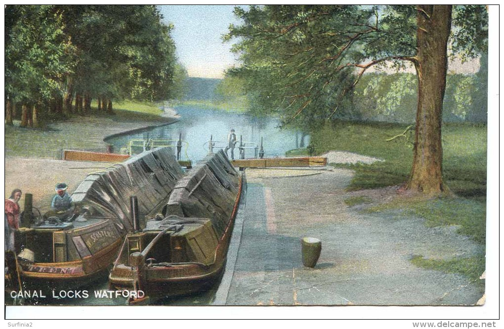 HERTS - WATFORD CANAL LOCKS 1907 Ht156 - Hertfordshire