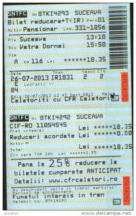 Romania-Railway Transport Ticket-2/scans - Europa