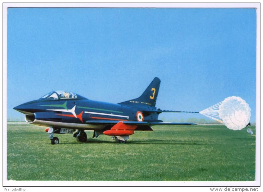 ITALIAN AIR FORCE - ATTERRAGGIO SU PRATO DI UN VELIVOLO FIAT G 91 PATTUGLIA ACROBATICA NAZIONALE - 1946-....: Era Moderna