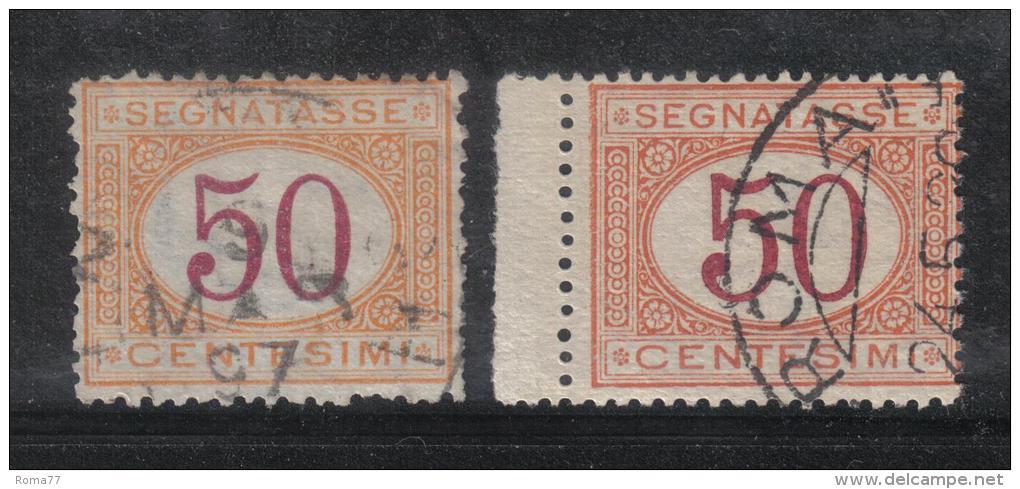 SS1043 - REGNO , Segnatasse Le Due Emissioni (1870-1890) Del 50 Cent . Used - 1878-00 Humberto I