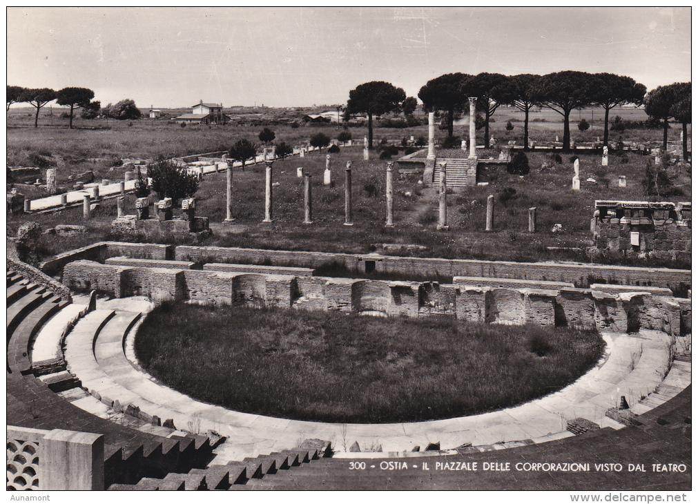 Italia-Ostia-Il Piazzale Delle Corporazioni Visto Dal Teatro - Andere Städte