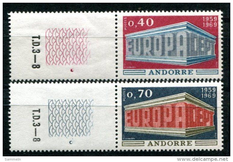 1661 - FRANZ. ANDORRA Postfrisch - Mi.Nr. 214-215, Europa-CEPT - Mnh Set - French Andorra