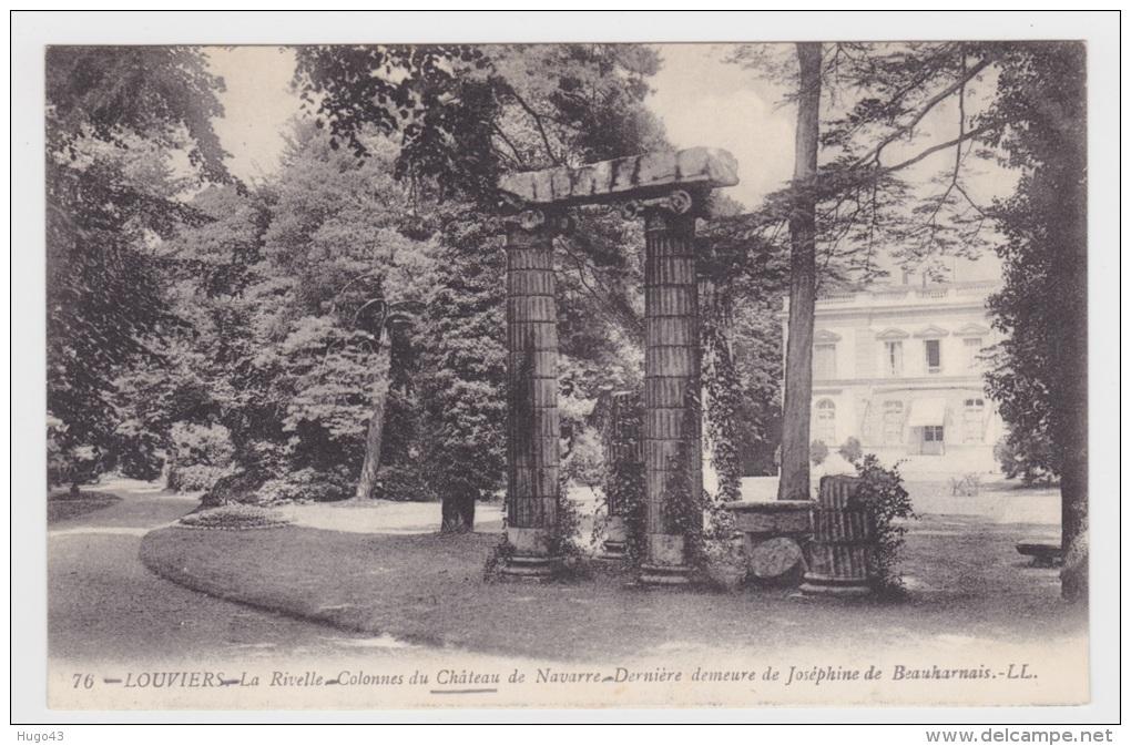 Louviers n 76 la rivelle colonnes du chateau de navarre derniere demeu - Chateau de beauharnais ...