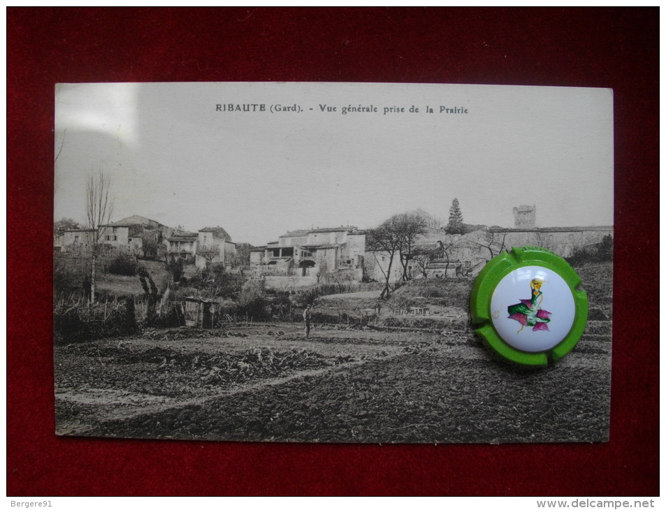CPA RIBAUTE GARD VUE GENERALE PRISE DE LA PRAIRIE - France