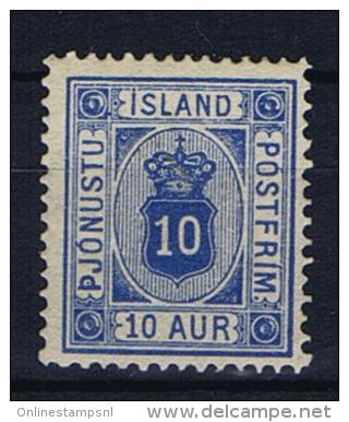 Iceland Dienstmarken  1876, 5 A MH/* - Dienstpost