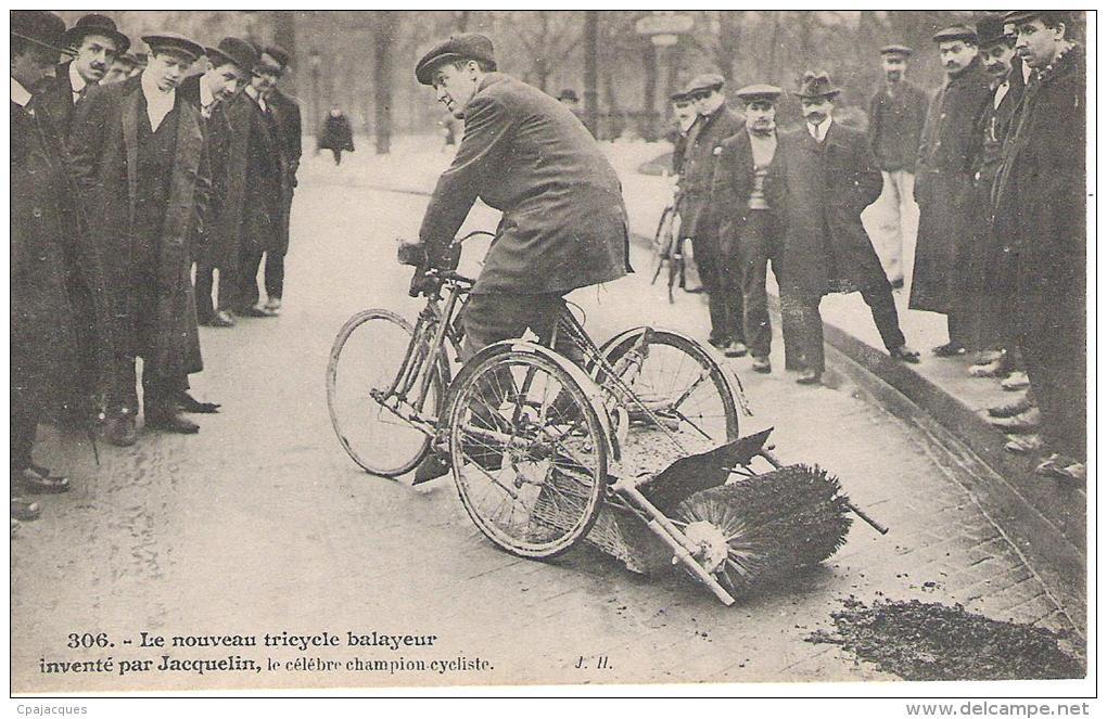 75 - LE NOUVEAU TRICYCLE BALAYEUR INVENTE PAR JACQUELIN .SUPERBE . - France