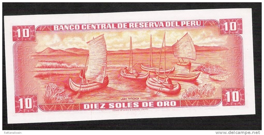 PERU  P112   10   SOLES DE ORO    17.11.1976    UNC. - Pérou