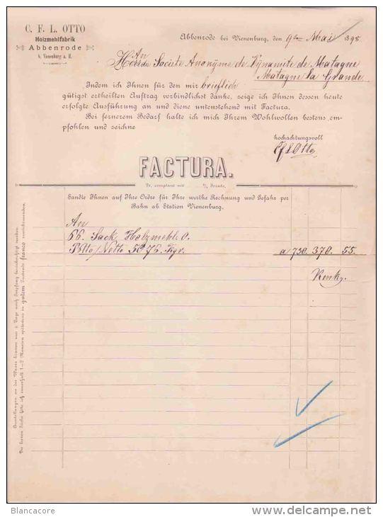 Abbenrode Nordharz OTTO HOLZMEHLFABRIK 1895 - Deutschland